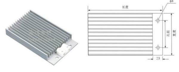 梳状铝合金加热器